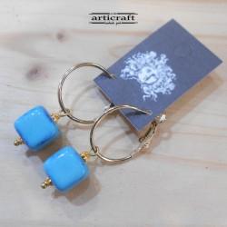 Handmade Earrings Cube (E271)